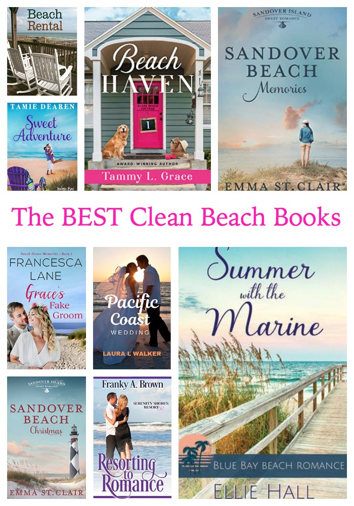 Want a sweet escape? Check out these clean beach romance books!